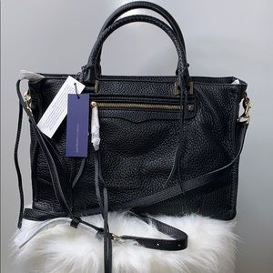 NWT REBECCA MINKOFF • Regan Black Satchel Bag Tote